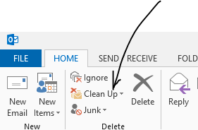 Clean up outlook