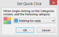 Using categories in outlook