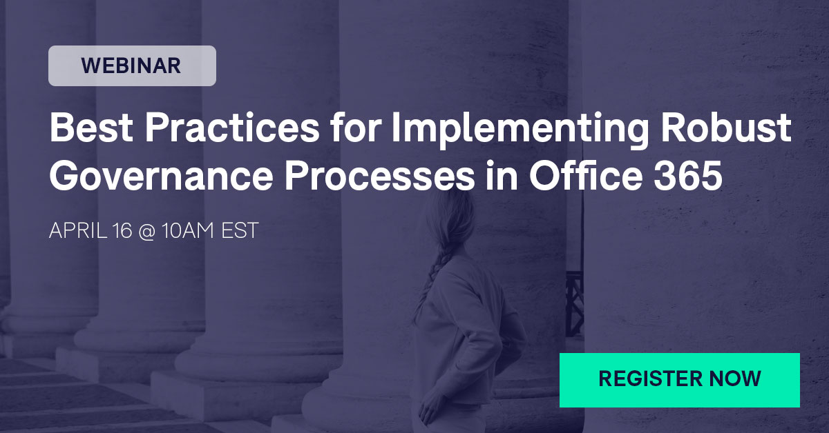 Webinar Governance Processes Office 365 Compliance Playbook
