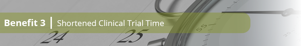 Benefit 3: Shortened clinical trial time